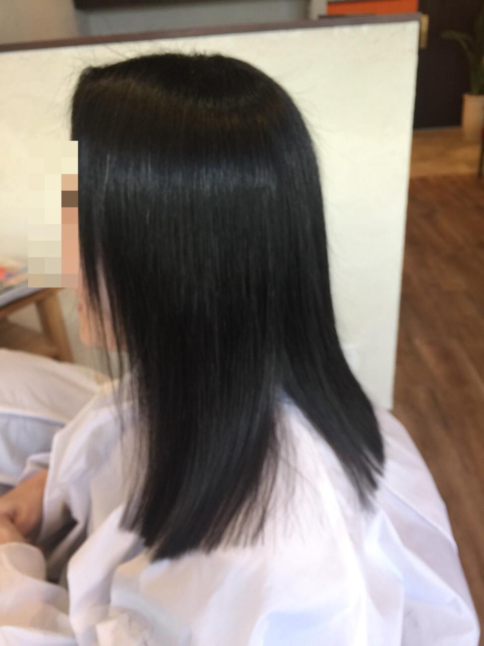 柔らかい髪の矯正